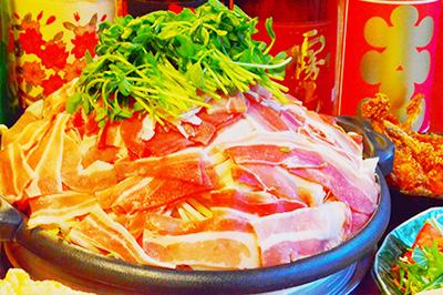 豚バラ包みの陶板de春の旬盛りだくさんコース お一人様3,200円(税込)