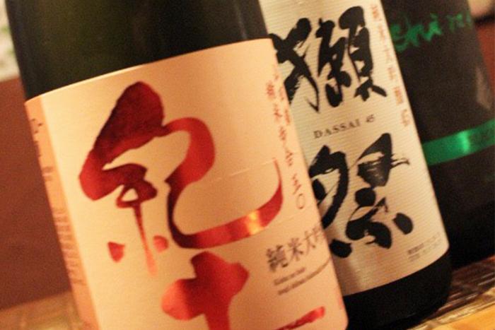 今月のこだわり日本酒 880円+税~ 獺祭や紀土など、期間限定でオススメの冷酒入荷しました!