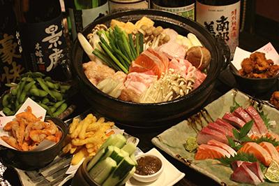 豆乳チゲちゃんこ鍋コース お一人様2,800円(税込)