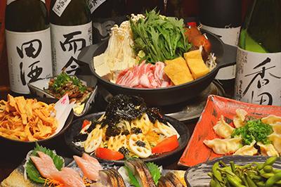 味噌の旨味と塩麹のコクが決め手の!京水菜と豚の味噌ちゃんこ鍋 お一人様3,200円(税込)
