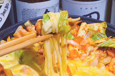 春野菜のチーズタッカルビコース お一人様3,200円(税込)