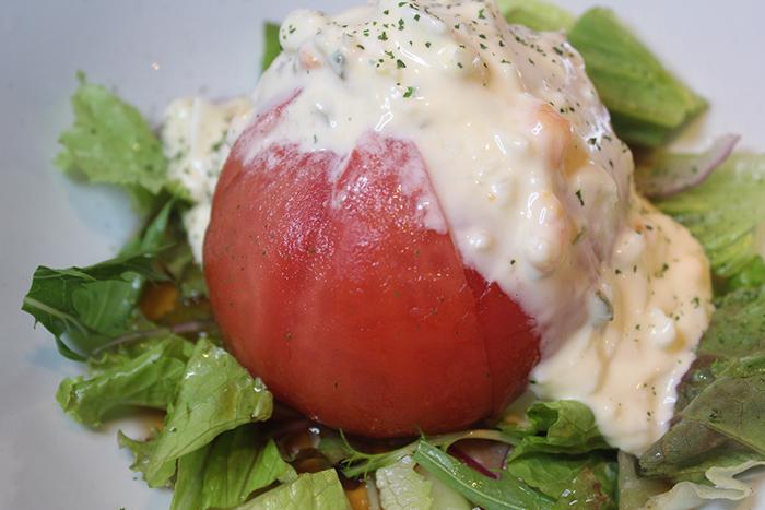 旨たれタルタル皮むきトマト ¥480+税 新スタイルなトマトのサラダ!