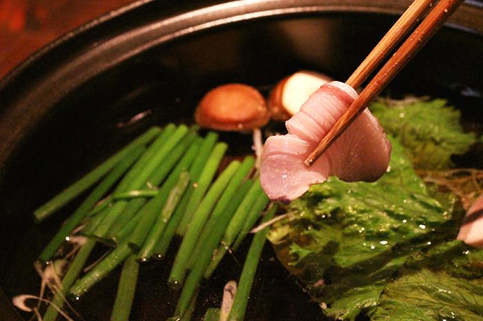 鹿児島寒鰤と農家野菜のしゃぶしゃぶ鍋コース